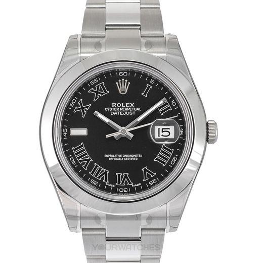 Rolex Datejust 116300/Black Roman